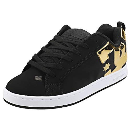 DC SHOES COURT GRAFFIK Sneakers dames Zwart/Goud Lage sneakers