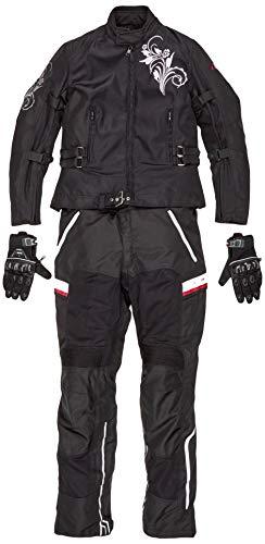 BOSmoto Waterdichte motorcombi (jas + broek) motorkleding voor zomer, Cordura, CE-protectoren zomer. Medium zwart