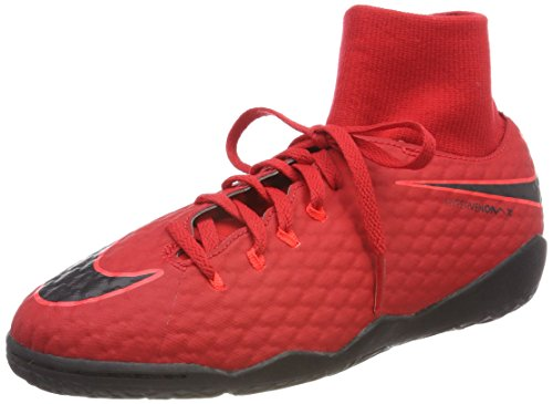 Nike Unisex-Kinder Hypervenomx Phelon 3 DF IC JR 917774 61 Fußballschuhe, Rot (Universität Rot/Schwarz-Helles Karmesinrot 616), 38 EU