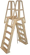 Vinyl Works NE120T Premium Frame Above Ground Pool Ladder, Taupe
