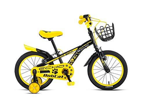 16 Zoll Kinder Mädchen Jungen Fahrrad Mädchenfahrrad Jungenfahrrad Kinderrad Kinderfahrrad Unisex Stützräder Rad Bike Bobcat NEON GELB