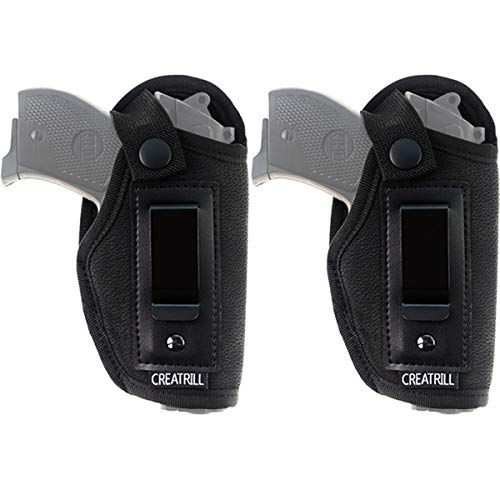 CREATRILL 2 Pack IWB Gun Holster for Concealed Carry, Inside Waistband Holster Fits S&W Bodyguard, Ruger LCP, Kel Tec P3AT, Kahr P380, NAA Guardian, and Most .380