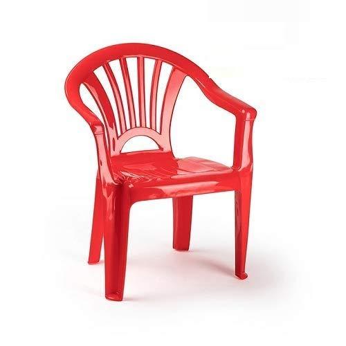 CABLEPELADO Silla Infantil plastico (Rojo)