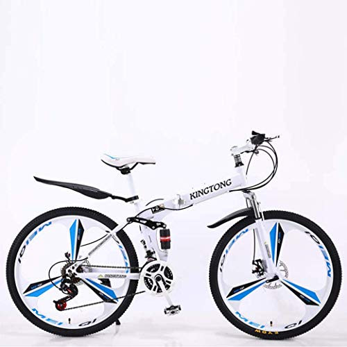 CENPEN Deportes al aire libre bicicletas de montaña, bicicleta plegable 24Speed doble freno de disco completo Suspensión antideslizantes, estructura ligera de aluminio, horquilla de suspensión, múlt