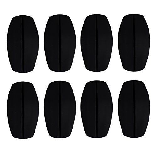 Andux 4 Pairs Silicone Bra Shoulder Pads Non-slip Impact & Pain Relief NYDDJ-01 (Black)