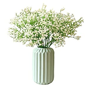 Exquisite Gypsophila Artificial Plants 22 White Fake Silk Plants for Family Reunion Wedding Home Decoration Flower Elegant Decor (Color : A)