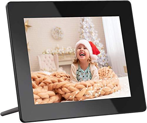 Digitaler Bilderrahmen, Dragon Touch 8 Zoll HD Elektronischer Bilderrahme IPS Display 16GB Speicherung WiFi mit der Funktion Foto/Video/Kalender/Wecker/Wetter/Fernbedienung- Classic 8