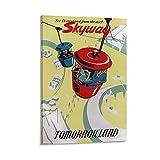 Skyway Tomorrowland Vintage-Poster, Leinwand-Kunst-Poster