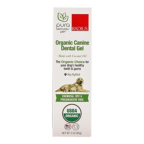 Pura Naturals Pet - Organic Canine Dental Gel,...