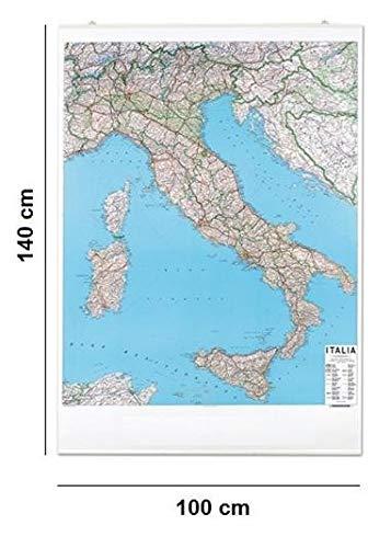 Carta geografica murale Italia STRADALE 100x140