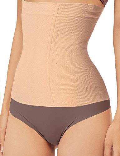 Women Waist Shapewear Belly Band Belt Body Shaper Cincher Tummy Control Girdle Wrap Postpartum Support Slimming Recovery (Beige, XXXL-)