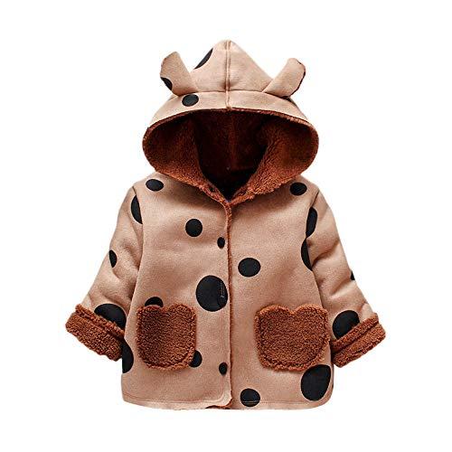 Hui.Hui Manteau à Capuche Antler à Manches Longues et à Pois pour Enfants,Hiver Pas Cher Ensemble Cardigan Pull Pullover Vêtements Manteau Noël Cadeau pour Enfants
