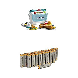 Move the number slider to explore numbers, time and temperature, count along with the blinking light and more Over 30 phrases and songs warm up counting, sharing and fraction skills Pack of 20 AA Alkaline 1.5 Volt Batteries Improved anti-corrosion co...