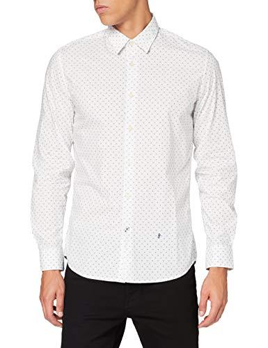 Pepe Jeans Edmonton Camisa, Blanco (800), Medium para Hombre