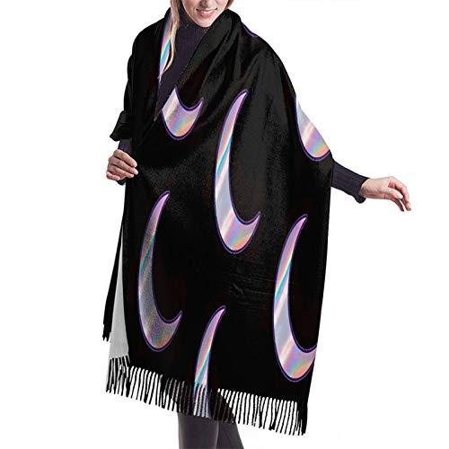 Vcxbsdvbd Aesthetic Neon Purple Stickers Lunarfashion Cashmere Big Shawl Winter Thick Warm Scarf Blanket 77'X 27