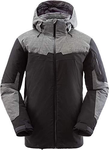 Spyder Men's Chambers Gore-Tex Ski Jacket – Male Full Zip Hooded Winter Coat, X-Large, Black