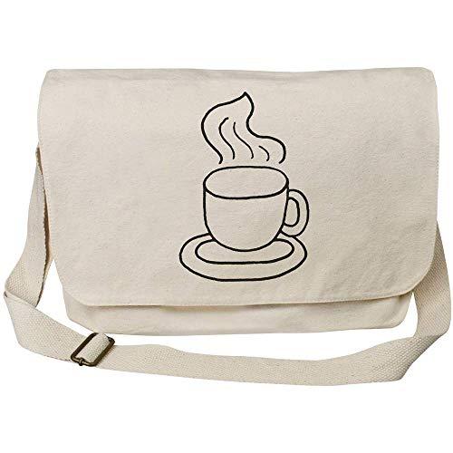 Azeeda 'Dampfender Kaffee' Baumwolle Umhängetasche (MS00007213)