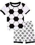 A&J DESIGN Toddler Boys Soccer Pajamas Short Set (3T, Soccer-1)