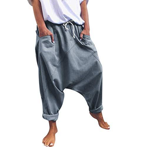 Bombachos De Yoga Pantalones Harén Casual Holgado Modernas Harem De Los Pantalones De Deporte De Mujer Pantalones Globo Hippie Pantalones De Verano Suelta Y Cómoda De Los Pantalones del Ocio del