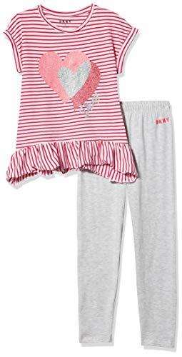 DKNY Girls' Pants Set, Pink Berry, 5