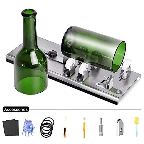 Herramienta de Cortador de Botellas de Vidrio Ajustable, Máquina de Corte de Acero Inoxidable para Vino, Cerveza, Licor, Whisky, Alcohol, Champán, Botellas Redondas de Soda