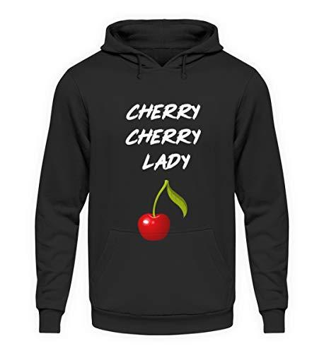 SPIRITSHIRTSHOP Cherry Cherry Lady - Cooles Lied Song Design Für Damen Und Herren Zu Jedem Anlass - Unisex Kapuzenpullover Hoodie -L-Jet Schwarz
