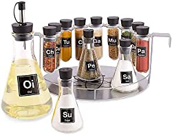 14 Piece Chemistry Spice Rack Set with test tubes and beakers