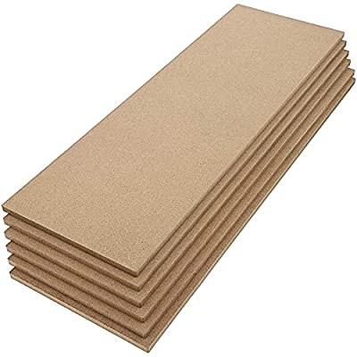 MDF Board, Chipboard Sheets for Crafts (5 x 15 In, 6-Pack)