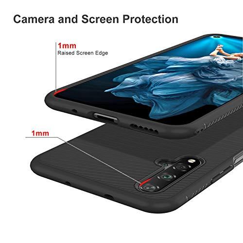 iBetter für Honor 20 Hülle, für Huawei Nova 5T Hülle, Ultra Thin Tasche Cover Silikon Handyhülle Stoßfest Case Schutzhülle Shock Absorption Backcover Hüllen passt für Honor 20 Smartphone (Schwarz) - 5