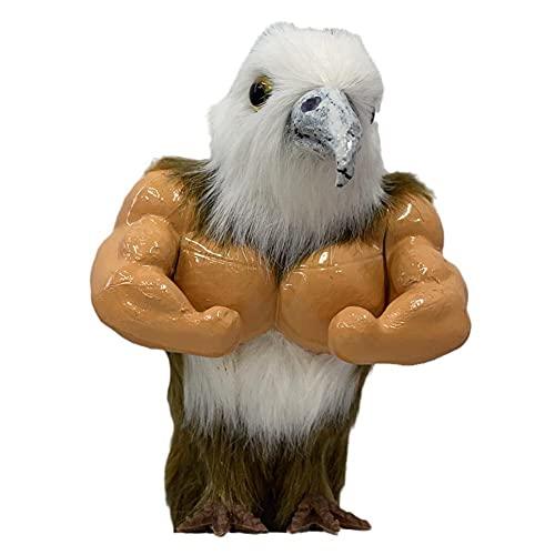 XCSM Simulación Mini Águila Muscular Pollo Juguete Divertido Animal Figura Tricky Músculos Líneas Águila Calva Modelo Juguete Decoración de Jardín para Niños Niñas Niños Regalo