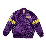 Mitchell & Ness Los Angeles Lakers - Chaqueta de satén de color morado - - Large