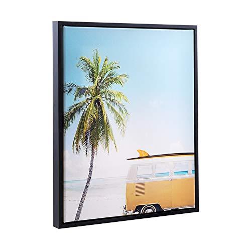 Bildershop-24 Schattenfugen - Rahmen LEMGO 50x70cm Schwarz (matt) - 7 Farben 73 Formate Massivholz