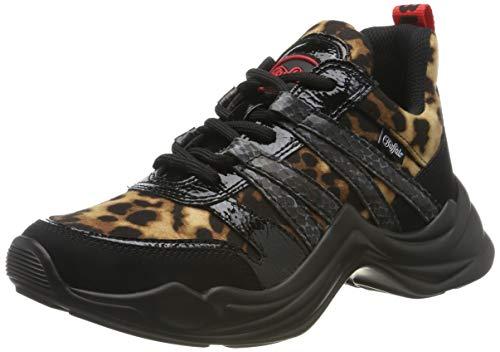 Buffalo Damen CAVI Sneaker, Schwarz (Black Leo 001), 39 EU