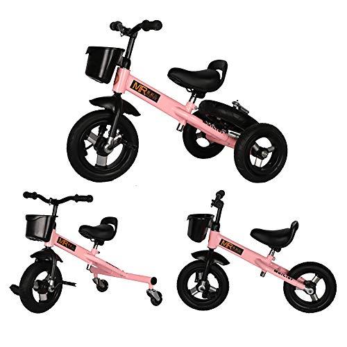 Triciclos Bebes 1 Año 3 EN 1 Triciclo Niños +18 Meses Multifuncional Bicicleta, Pink