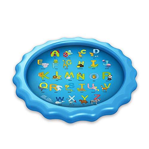 WYJW Wasserspielzeuggarten für Kinder Splash Pad & Toy Sprinkler Spielmatte Outdoor-Spielzeug für Kinder ab 2 Jahren, schwarz