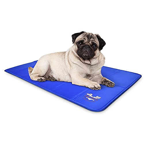 """Arf Pets Dog Self Cooling Mat 23"""" x 35"""" Pad for Kennels, Crates and Beds, Non-Toxic, Durable Solid Cooling Gel Material. No Refrigeration or Electricity Needed, Medium"""