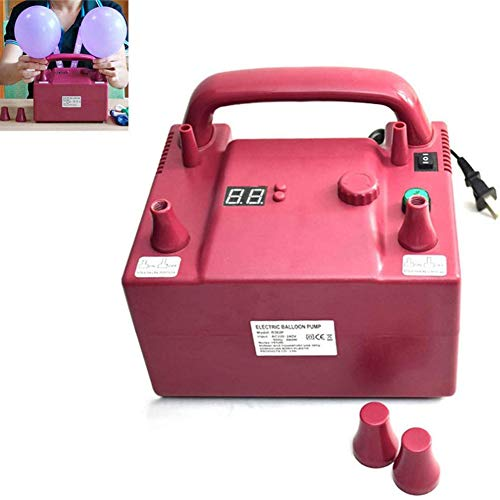 Dongbin 800W Multifunktions-Zeit Quantitative Elektrische Ballonpumpe mit 2 Inflation Düsen, Luftballon-Gebläse für Hochzeitsfest-Feiertags-Dekoration, Rosa