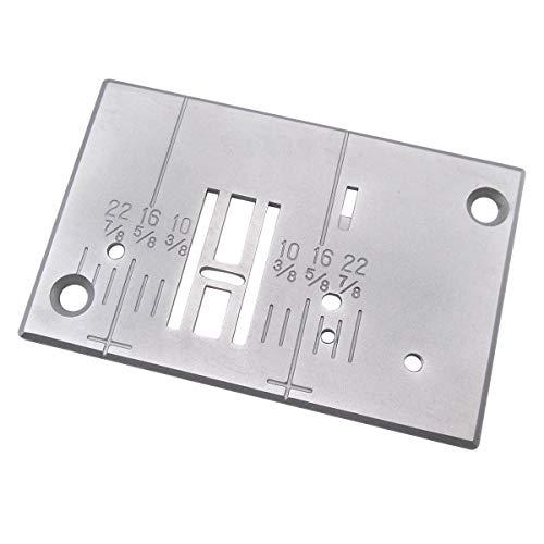 CKPSMS Marca -1 pieza #76695 placa de aguja compatible con/reemplazo para la máquina de coser Singer Brand 132Q, 140Q
