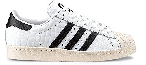 adidas Superstar 80s Damen Sneaker Weiß Schwarz, Schuhe Damen:EUR 37 1/3 | UK 4.5 | US 6 | cm 23