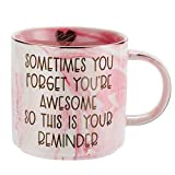 Thank You Gifts for Women - Funny Gifts Ideas for Friends, Coworkers, Boss, Employee, Mom, Mentor - Inspirational, Thoughtful, Birthday, Friendship, Graduation Presents for Her - Ceramic Coffee Cup