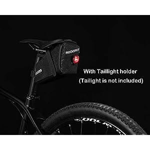 ROCKBROS Bolsa de Sillín de Bicicleta Alforjas de Asiento para MTB Bicicleta de Carretera Bicicleta Plegable Negro