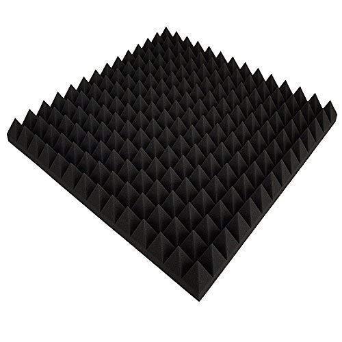 85 Stk Pyramiden schaumstoff Akustik,Akustik Dämmung ca. 50 x 50 x 5 cm, Schwarz Anthrazit, Schallschutzpaneele Akustische Schallisolierung Dens. 30 Platten Akustische Lautsprecher