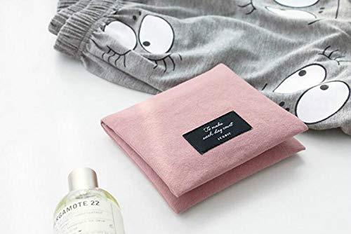 Sac de serviette hygiénique portable pliable pour filles et femmes (rose)