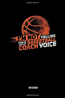 Basketball Coach Voice Notebook: Dotted Lined Baller Coaching Notebook (6x9 inches) ideal as a Journal for High School, College, Hobby or Professional ... all Hoops Lover. Great gift for Men and Women