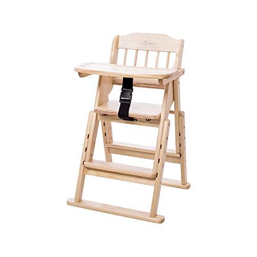 YQQ Chaise Bébé Siège Enfant en Bois Massif Tabouret Multifonctionnel BB Chaise Enfant Portable Table De Bébé Chaise Pliante
