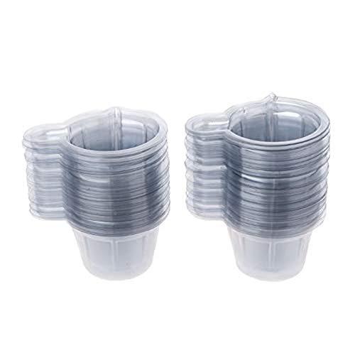 CTHC 100 Pcs 40ml Vaso Dispensador De PláStico Reutilizable Vasos Mezcladores Herramientas Kit De Molde De Resina De Silicona Palo Mezclador para Manualidades DIY Herramientas 2.1x1.4x1.3inch