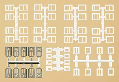 Auhagen 48654.0 - ramen en deuren voor industriële gebouwen, kleurrijk