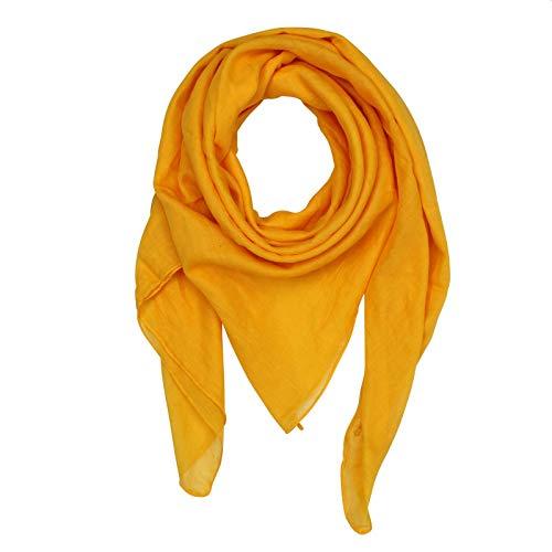 Freak Scene Pañuelo de algodón - amarillo - mandarino - Pañuelo cuadrado para el cuello