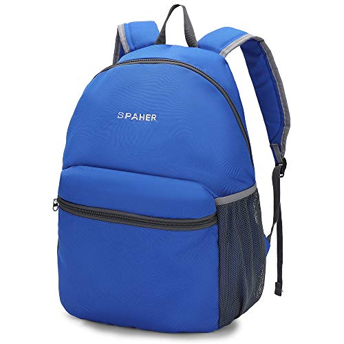 SPAHER Ultralight Opbergen Wandelrugzak Trekking rugzak Voor mannen en vrouwen opvouwbaar Schoudertas Daypack Waterproof Outdoor Unisex Cycling Holdall Flight Bag Schooltas Camping Reistas 25L