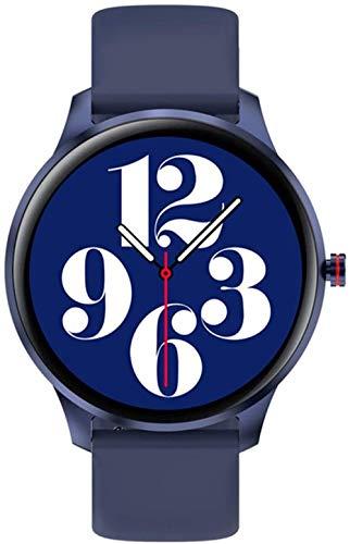 Reloj deportivo inteligente reloj inteligente pulsera inteligente reloj de pulsera hombres IP68 impermeable doble correa extra rastreador fitness 10 modos deportivos relojes para Android IOS oro azul